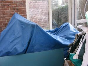Hier lag de Zwarte Schaduw lekker te slapen....