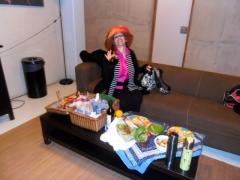 picknick, feestmaal, diner, luxe eten op simpele locatie, van niets iets maken, chique picknick