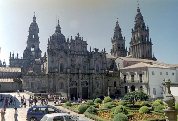 Cathedral square Santiago de Compostela