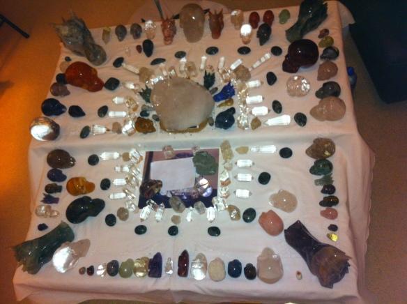 Kristallen schedelmeditatie, Kristallen schedels, reiniging en transformatie, veld van schedels