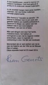 Rian Geurts exposeert bij roeivereniging Die Leythe, februari 2014