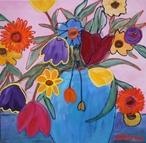 bloemen-blauwe-vaas