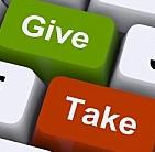 NEMEN EN GEVEN, TEGELTJESWIJSHEID, NEME IS MINSTENS ZO BELANGRIJK ALS GEVEN, GIVE AND TAKE