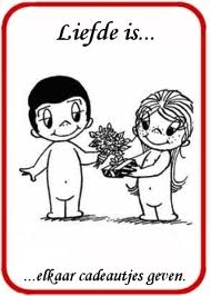 liefde is geven en nemen, take and give