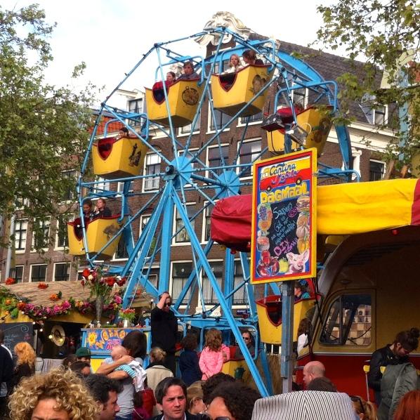 FESTIVAL NIEUWMARKT AMSTERDAM 2014,ouderwets reuzenrad, oude kermis