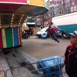 FESTIVAL NIEUWMARKT AMSTERDAM 2014, zweefmolen, ouderwetse zweefmolen