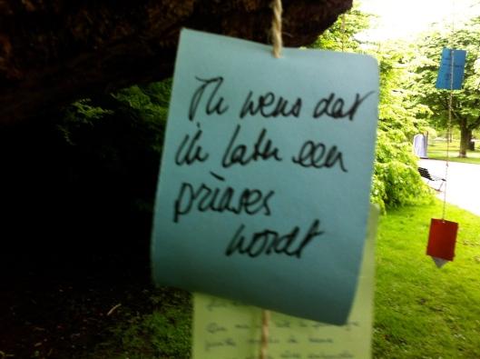 Wensboom, Oosterpark, Amsterdam, april 2014, IK WENS DAT IK EEN PRINSES WORD