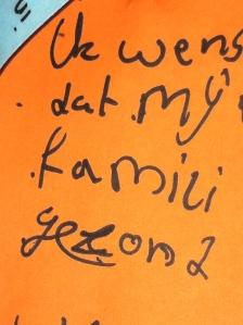 Wensboom, Oosterpark, Amsterdam, april 2014, wens mijn familie gezond