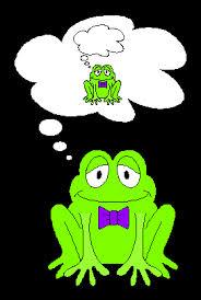 kikker denkt na, frog thinking