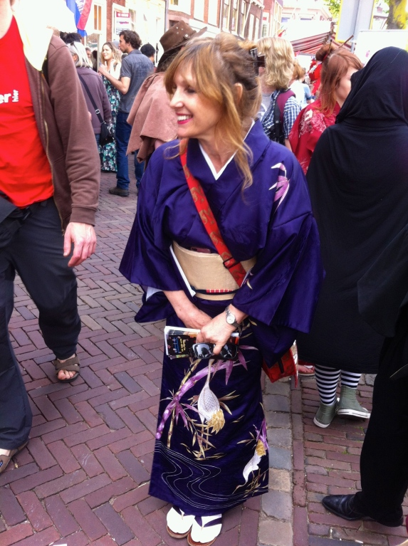 vrouw in kimono, Japan, traditioneel