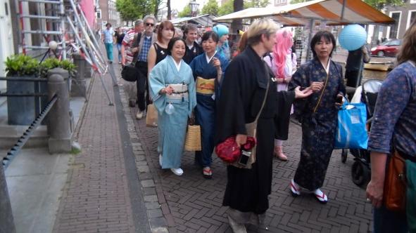 vrouw in kimono, Japan, traditioneel, kimono parade
