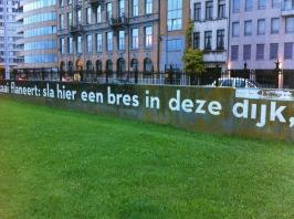 langs de kade, aan de Schelde,muurgedicht, Antwerpen, Herman