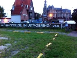 langs de kade ,muurgedicht, Antwerpen, Herman