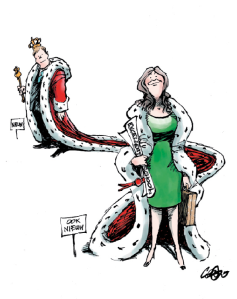 KARIKATUUR MAXIMA ,karikaturen, koningin