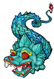 quetzalcoatl, Azteken, de gevederde draak, slangendraak, gevederde slang