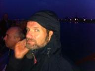 hijskraan,havens van Amsterdam, havensafari, nacht, schip, lichtjes in de nacht , knappe man