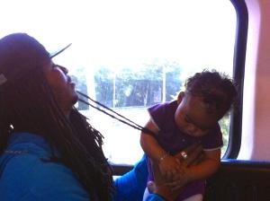 baby, klein meisje, mannen uit Dominikaanse republiek, rastahaar, rastaman met baby