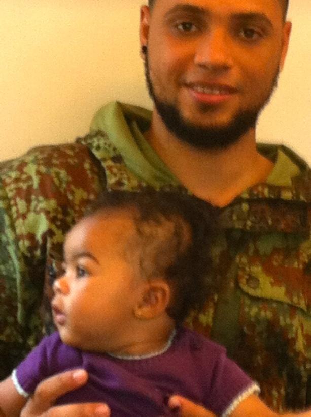 baby, klein meisje, mannen uit Dominikaanse republiekmet baby