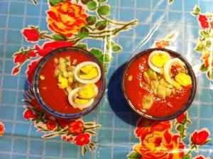 Gazpacho, koude soep,