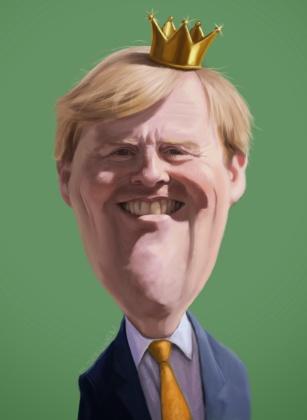 koning pils, Willem alexander, karikatuur
