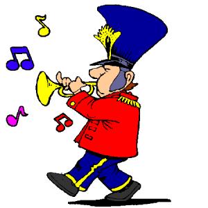 fanfare, toeters, trommels, bewegende fanfare, drumband, trompet, blaaskapel, parade