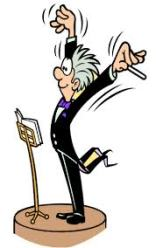 dirigent, bewegende dirigent, dirigeerstokje