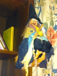 heks, toverheks, vliegende heks, op bezemsteel, lachende heks, vrolijke , lelijke