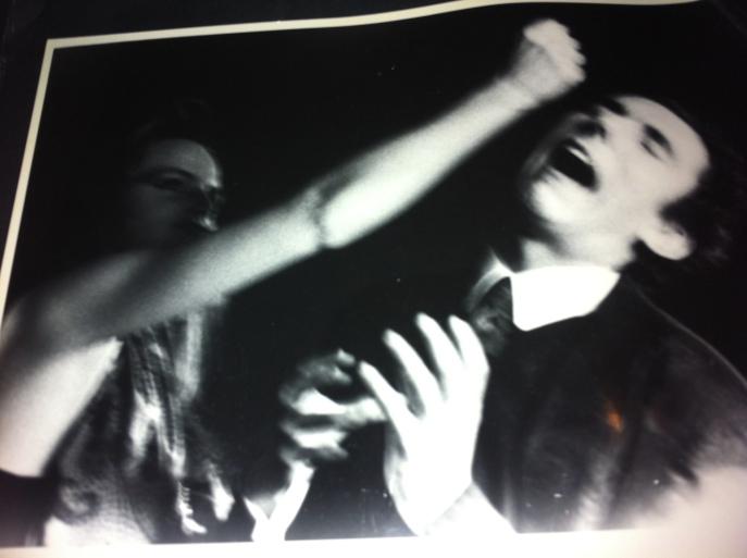 foto: Elna Obreen, vechtend echtpaar, vrouw slaat man , slaags stelletje