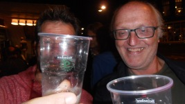 heren met bier, proost, 3 oktober, Leids ontzet