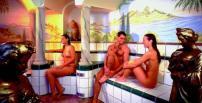 sprookjesachtige sauna, mooie sauna, kleurige sauna