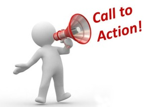 acton, call to action, oproep tot actie, mannetje met megafoon