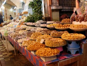 Marokko Marrakech, MAROKKAANSE WINKEL, KRUIDEN, VERSE KRUIDEN,
