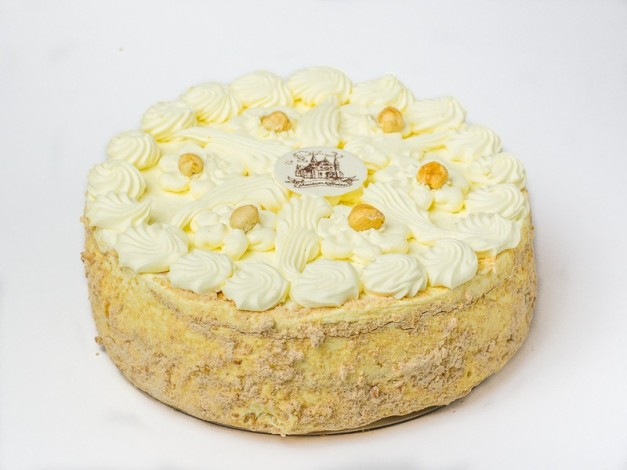 hazelnoot creme taart, maison Kelder, lekkere