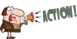 oproep tot actie, action, megafoon