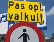 pas op valkuil, foute mannen in zicht, foute man, verkeersbord