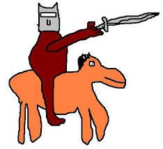 moraalridder, ridder op paard