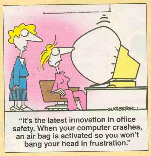 airbag,COMPUTERGRAPPEN, programmeren, computerproblemen, vastlopende software,