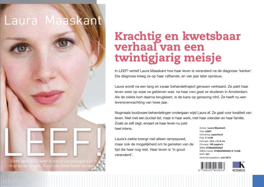 Laura Maaskant, Leef, boek over leven in het nu