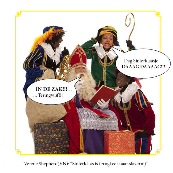 Verenigde Staten en Zwarte Piet, bitch, in de zak, sinterklaas