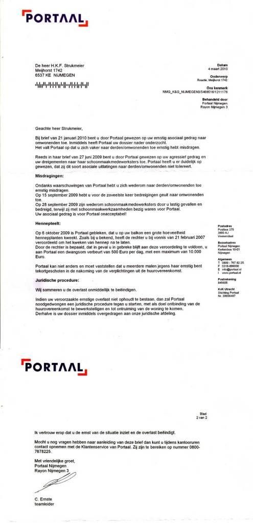 Portaal, woningbouwvereniging,BriefVanC.Ernste_hennepteelt