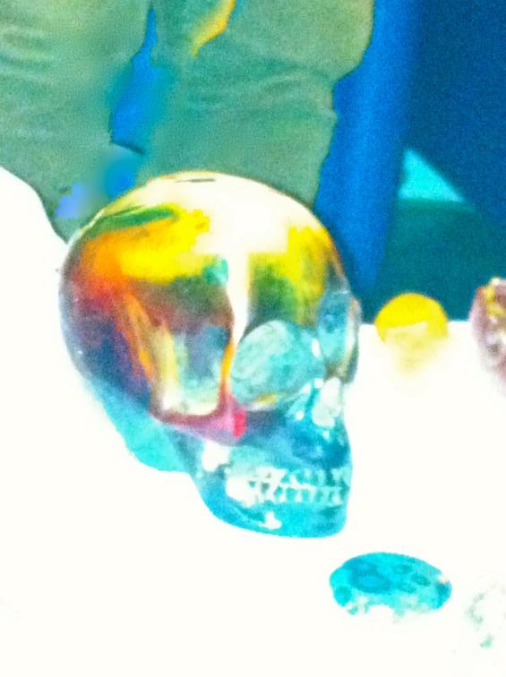 kristallen schedels, energie foto