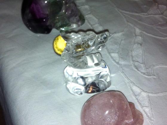kristallen schedels,kristallen draakje