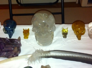 kristallen schedel, kristallen schedels,kristallen draakje