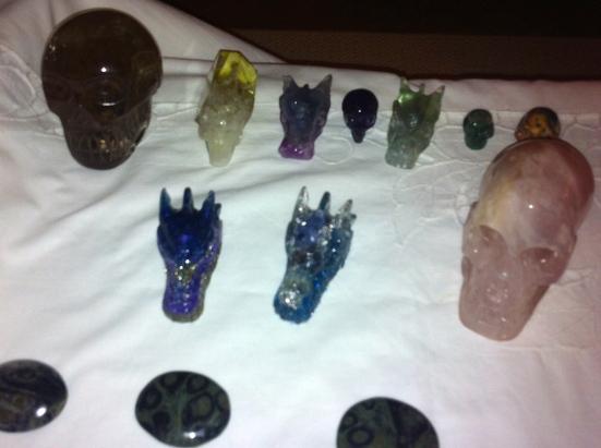 kristallen schedels, rozenkwarts