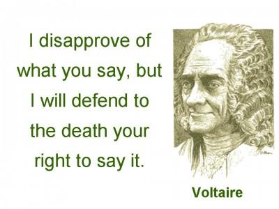 \voltaire, vrijheid van meningsuiting