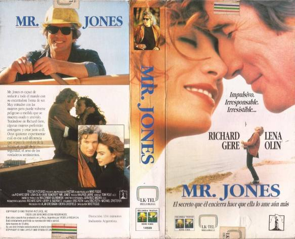 Mr. Jones, fil, Richard Geere, psychiatrisch patient,