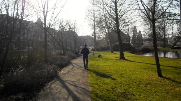 Gouda, park, romantisch