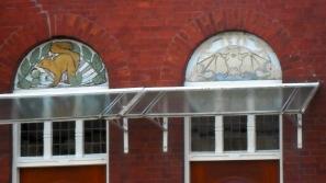 Gouda, jugendstil huizen, raamdecoratie