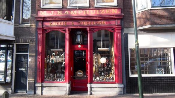 koffie en thee winkel ,Gouda, ouderwets,