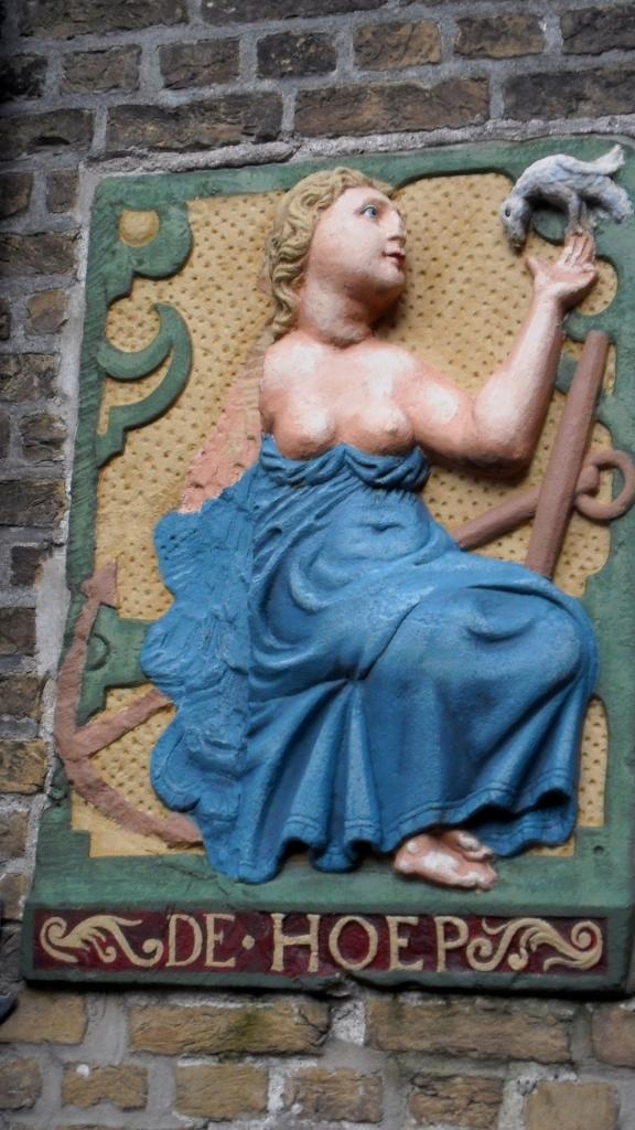 liefde is't fondemendt, liefde is de basis, muurplaat, Gouda, museum